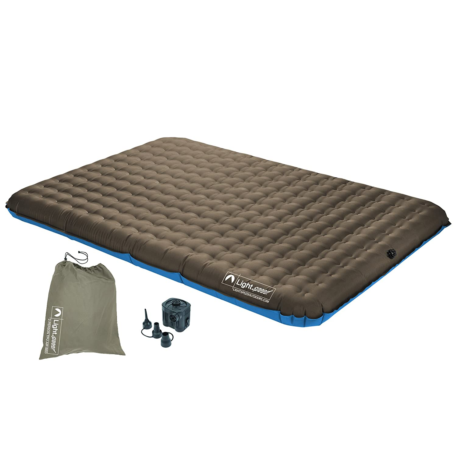 Amazon.com : Lightspeed Outdoors 2-Person PVC-Free Air Bed w ...