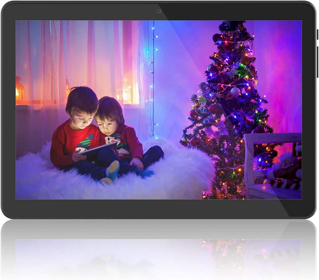 """Tablet 10 inch Android 8.1 Go, 10.1"""" 5G WiFi Tablets,6000mAh Battery,Quad-Core Processor, 800x1280 Touch Screen Full HD Display,16GB Storage, Bluetooth,Black"""