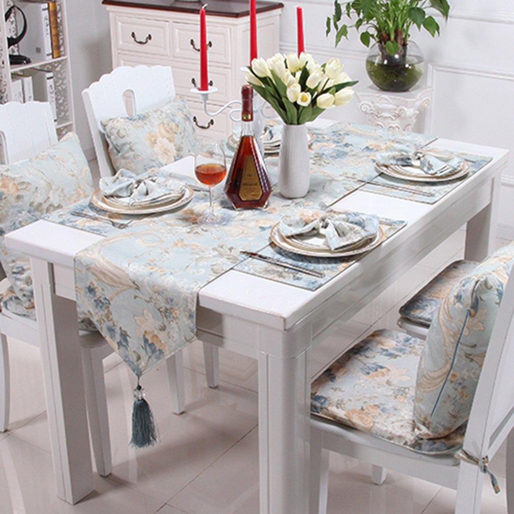 BXYR Tischläufer Luxus Polyester-Baumwolle Hochzeit Stechpalme Tischläufer 35  183 CM/35  200 CM/35  228 cm Haus Dekoration (Größe : 35228CM)