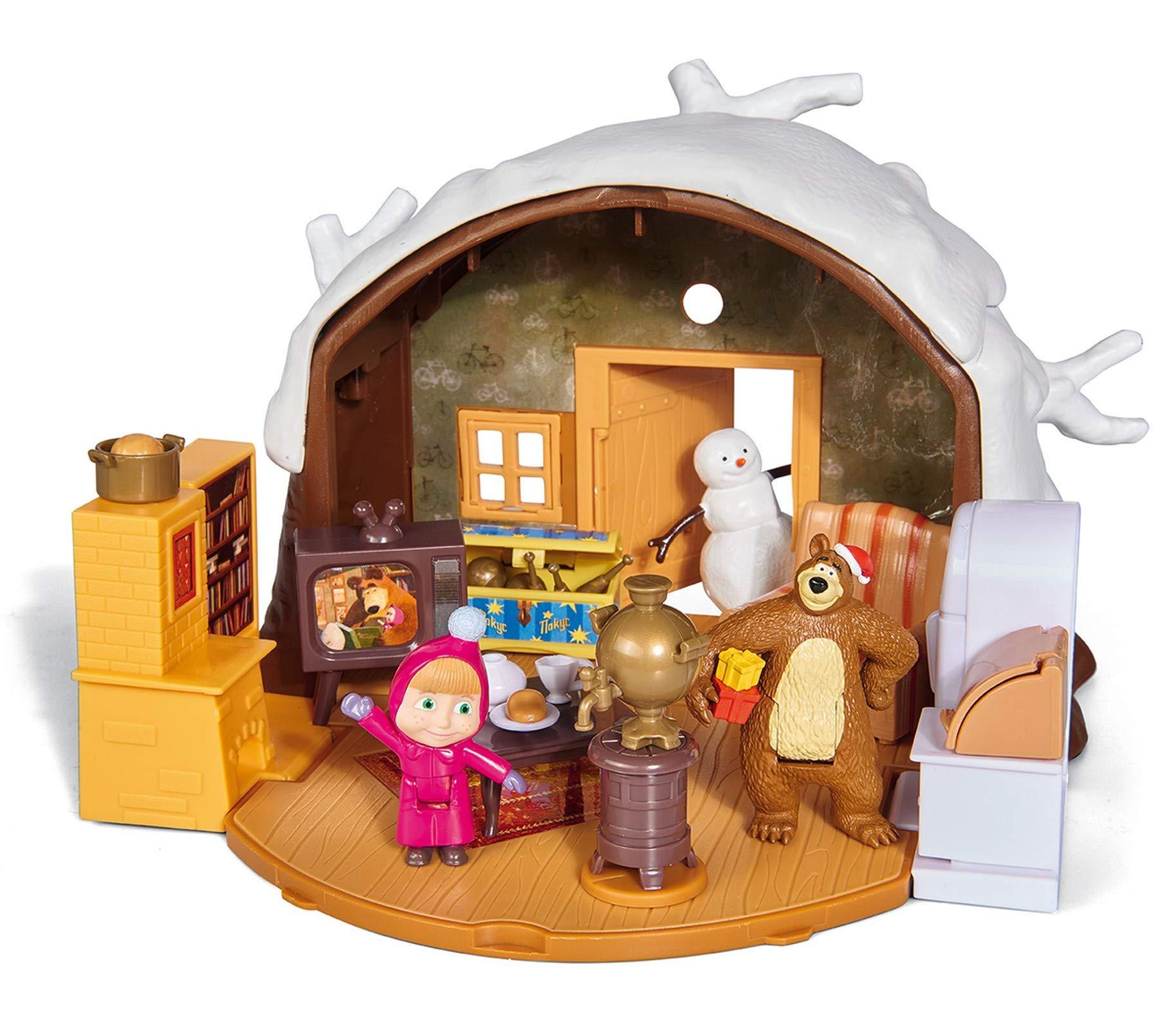 Simba - Masha & Michka - Hutte de Masha Hiver + 2 Figurines et 1 Bonhomme de Neige product image