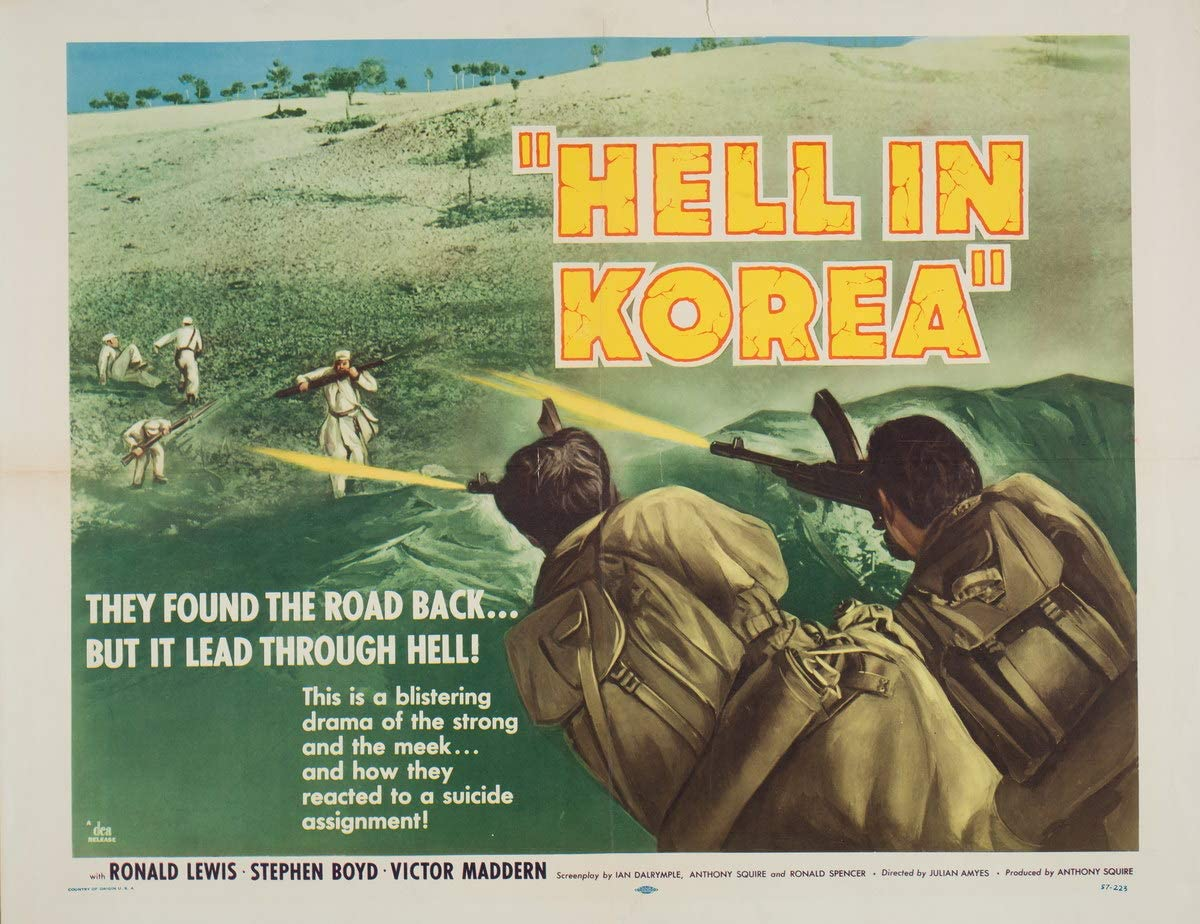 Berkin Arts Movie Poster Giclee Print On Canvas-Film Poster Reproduction Wall Decor(Hell in Korea 3) #XFB