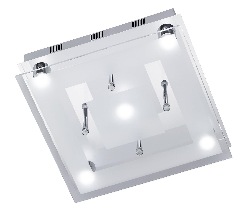 WOFI ACTION LED DECKENLEUCHTE CENTO GLAS CHROM 961605010300 GLAS DECKENLAMPE