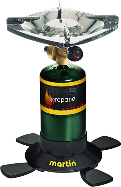 GasOne GS-8100 Tank Camp Stove with Propane Refill Adapter and Waterproof Carry Bag