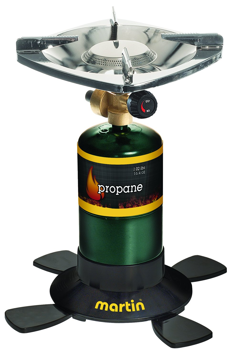 Martin Portable Outdoor Single Burner 10,000 BTU Bottle Top Propane Stove