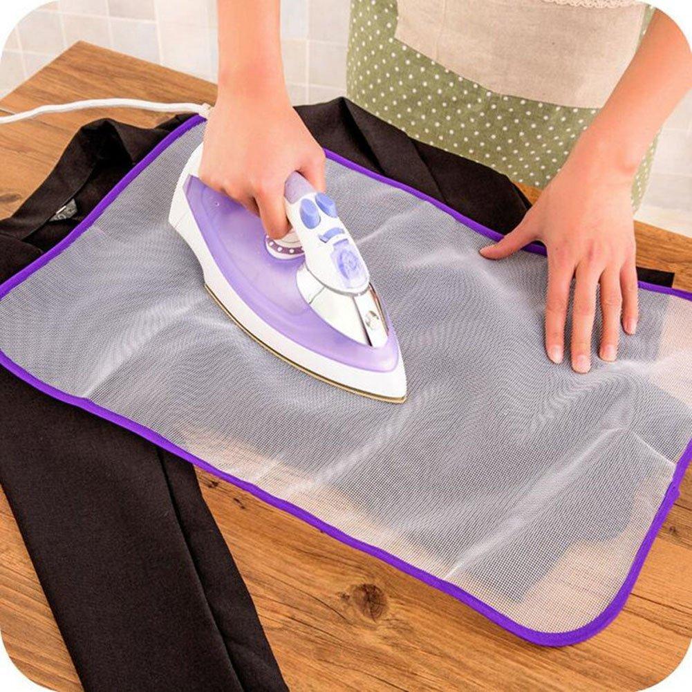 Almohadillas de planchar Resistente al calor de tela de malla de tela de planchado Ropa Scorch Aislamiento de protección del tapete de protección al azar de color (2 piezas) EQLEF®