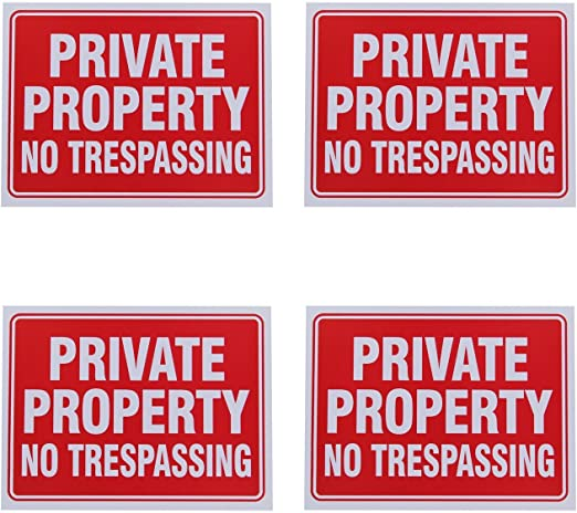 Amazon.com: Cartel «Private property, no ...