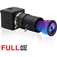 ELP Webカメラ 200万画素 ウェブカメラ5-50mm可変焦点レンズ IMX322 低照度 1080P USBカメラ