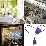 Lixada Colorful Lampadario Portalampada / Pendente della Luce per Stanza della Decorazione ,1m,E27