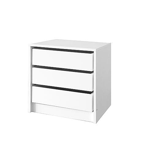 Muebles Cajonera 3 Cajones Blanca 50cm Alto x 50 cm Ancho x 45 cm Fondo