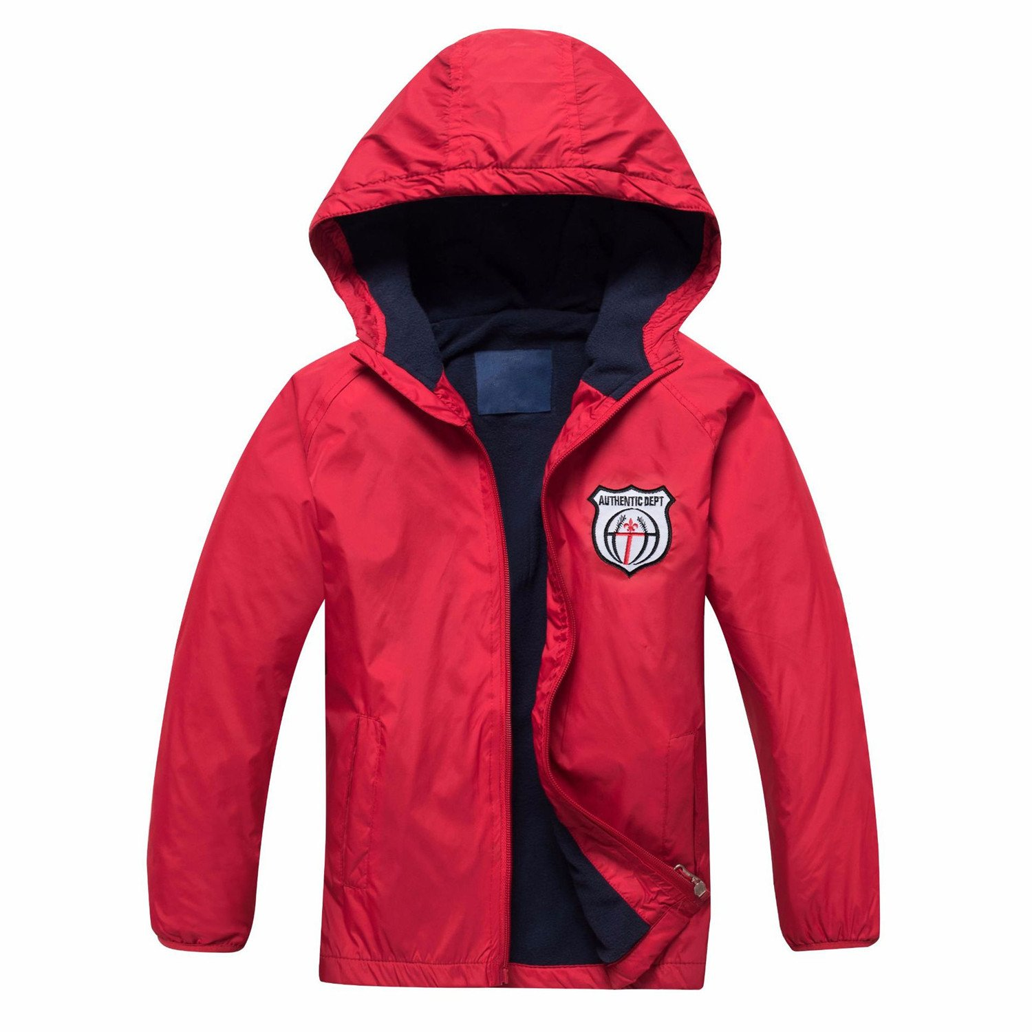 Star Flower Boys Rain Jackets Waterproof with Hood Outwear