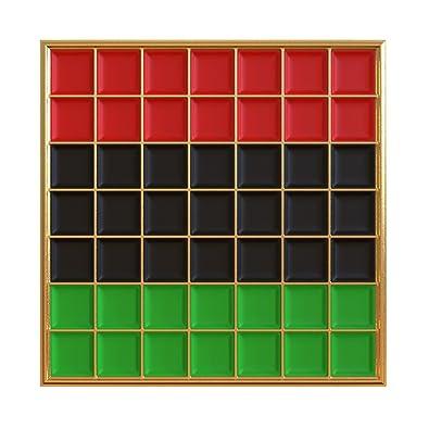 b1108d05d Real Sic Pan African Pride Flag Enamel Pin - Black Lives Matter Lapel Pin  Collection Premium
