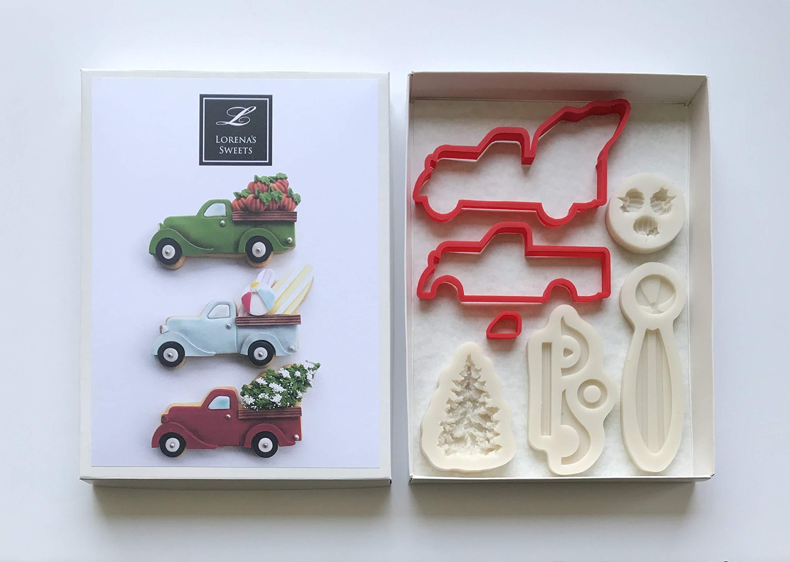 Lorena´s Sweet Fondant Cookie Cutter Kit Pickup Truck