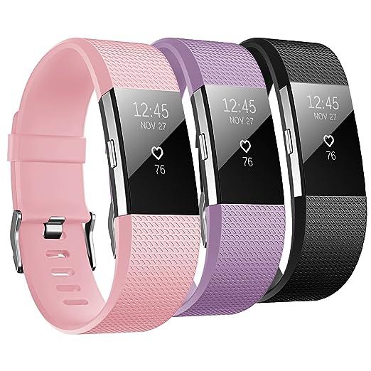 13 opinioni per Fitbit Charge 2 Cinturino, Hanlesi TPU Morbido Silicone Sostituzione Regolabile