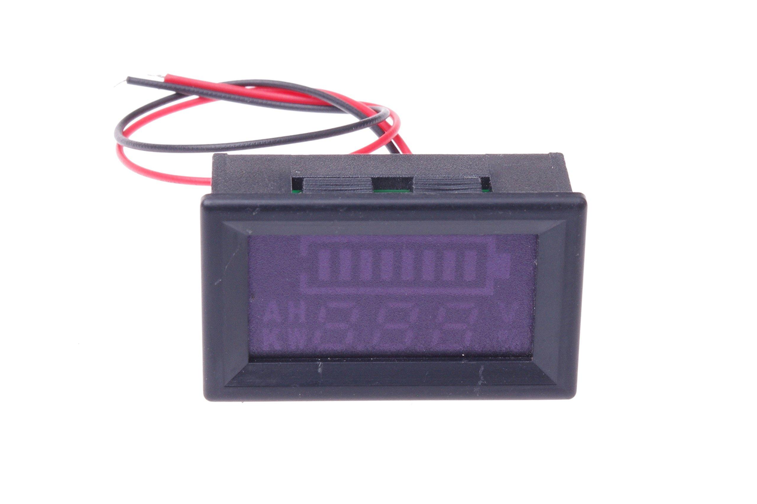 SMAKN DC 12v 24V 36V 48V 60V 72V 96V Acid lead batteries percentage capacity indicator LED Tester voltmeter With TTL OUTPUT by SMAKN (Image #8)