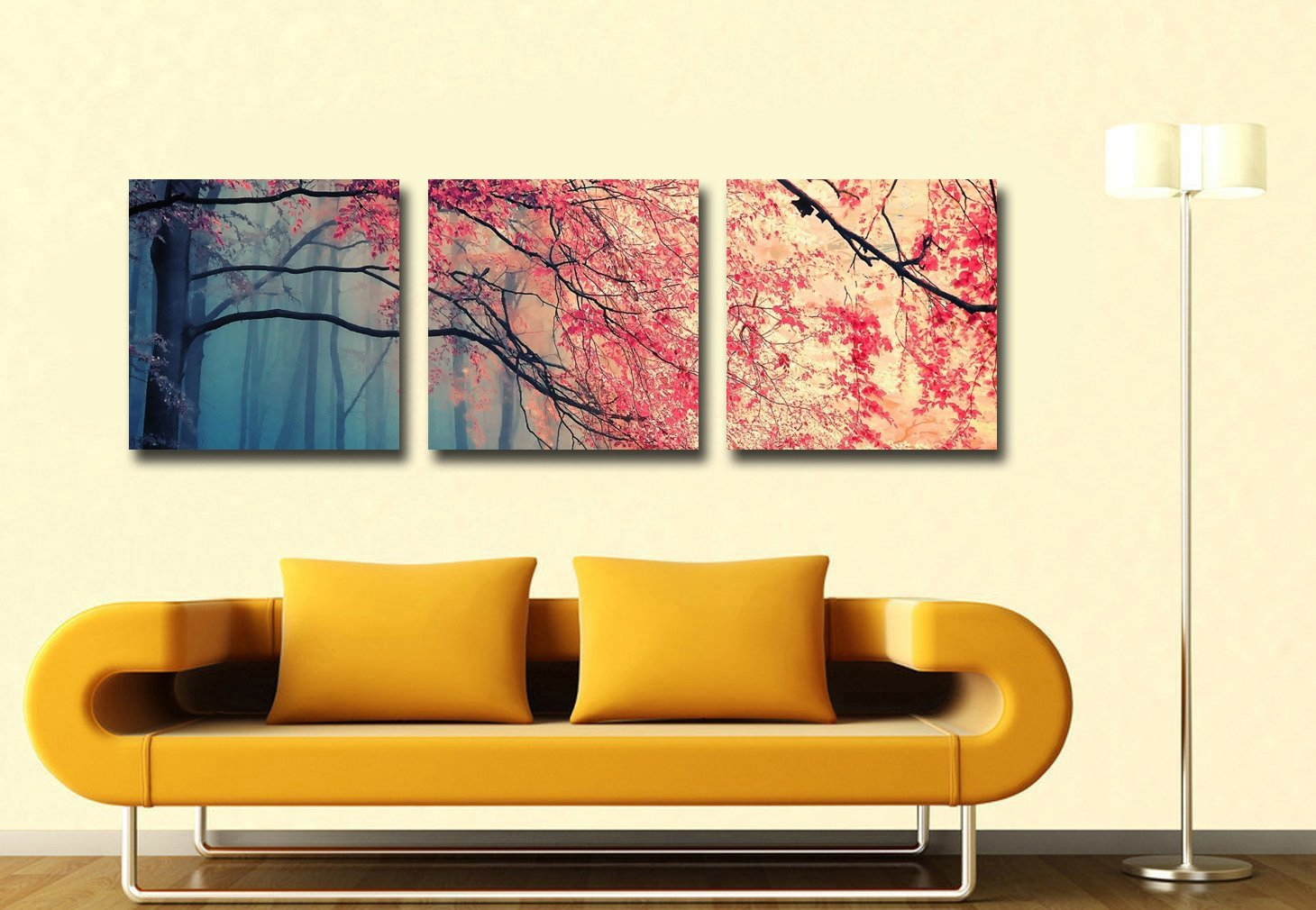 Living Room Paintings For Amazoncom Gardenia Art Red Maples Canvas Prints Wall Art
