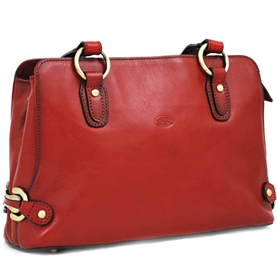 f69eeca431d03 Image Unavailable. Image not available for. Colour  Katana Women s Red  Leather Handbag