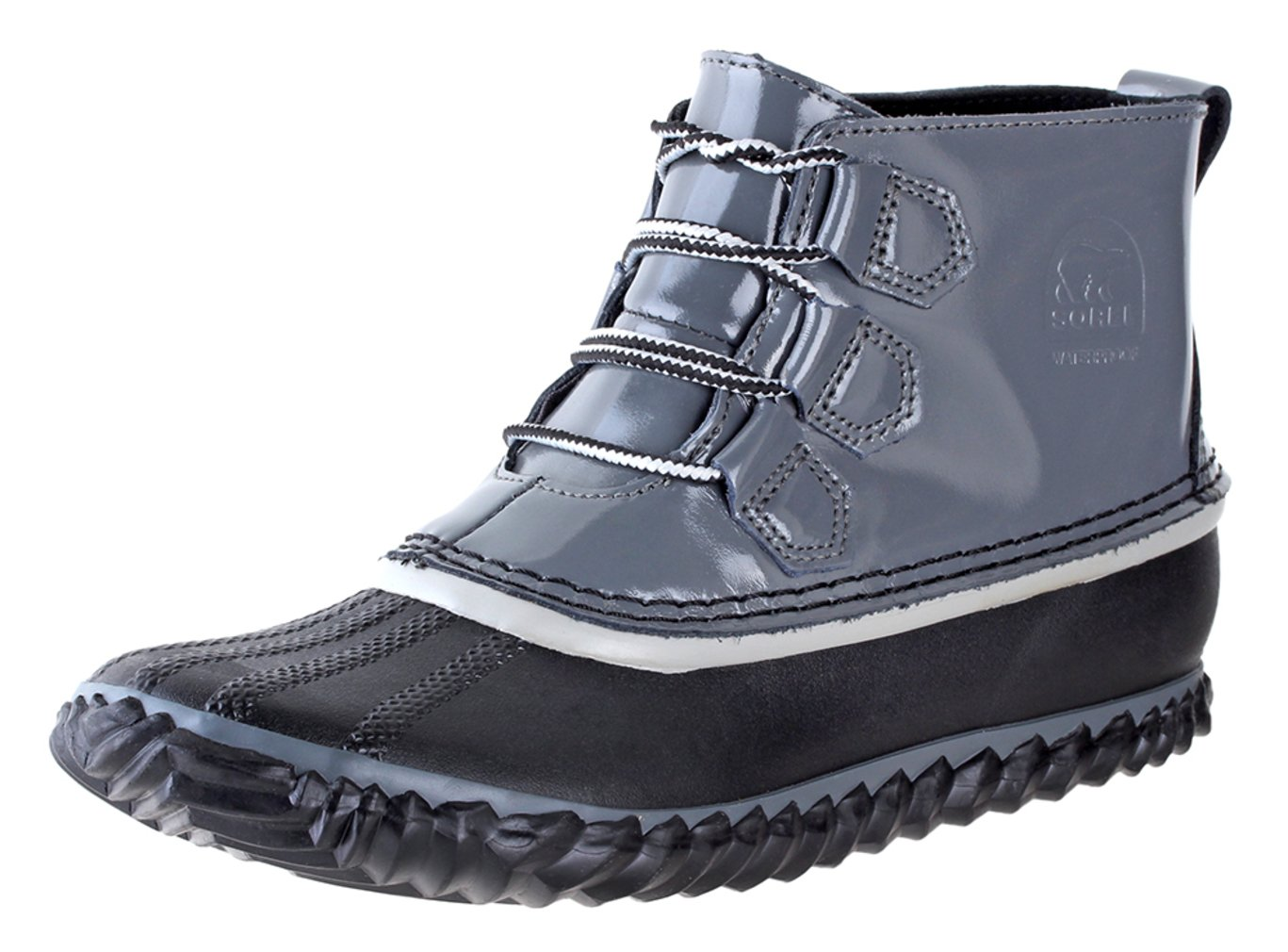 SOREL Womens Out N About Rain Boot, Graphite, 9 B(M) US