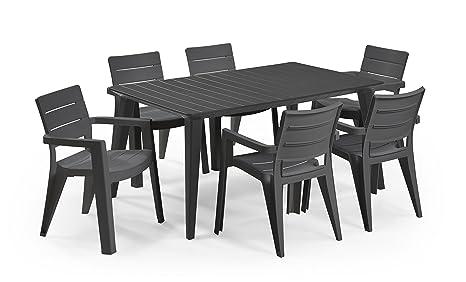 Keter - Set de mobiliario de jardín Lima/Ibiza (mesa + 6 sillas)