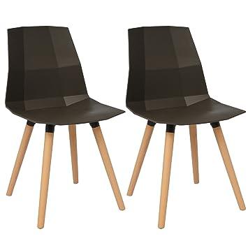 Woltu # 655 2 x sillas de Comedor (Juego de 2 sillas de Comedor ...
