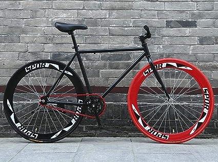 Volver despojado de Fixie del sistema de frenos, camino de la bicicleta, Bicicletas 26 pulgadas, marco de acero de alto carbono, camino de la bicicleta de carreras, los hombres y mujeres adultos,: