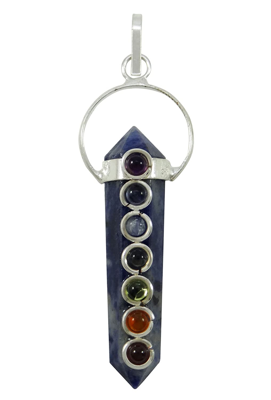 Harmonize Fluorite Stone Pencil Wand 7 Chakra Balancing Therapy Pendant Spiritual Reiki Healing Crystel CDJ237A-1
