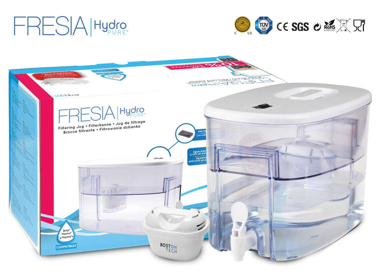 Boston Tech Fresia, dispensador de Agua Filtrada Compatible con ...