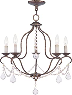 Livex Lighting 6435-71 Chesterfield 5 Light Chandelier Hand Applied Venetian Golden Bronze  sc 1 st  Amazon.com & Livex Lighting 6426-71 Chesterfield Chandelier - - Amazon.com
