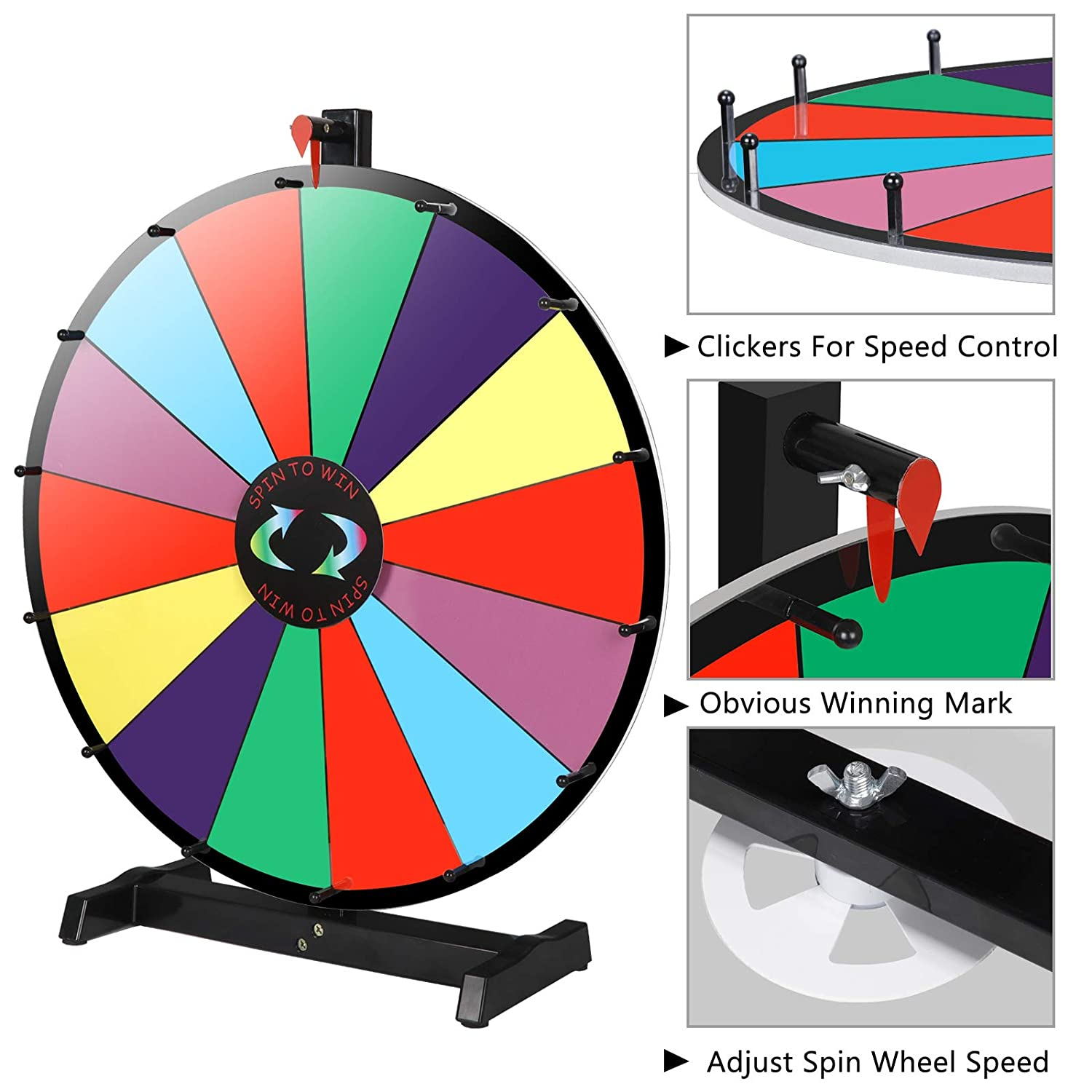 ZENSTYLE 24/18/15 Spinning Prize Wheel 14/10 Color Slots Dry