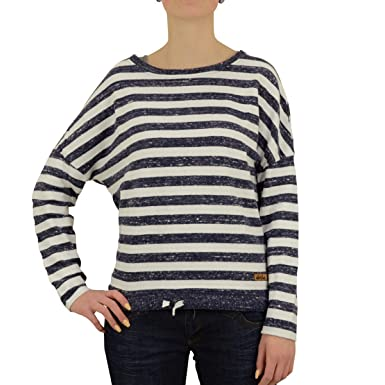 b4e2e4062c66af Derbe Damen Strick Pulli Streak blau weiss gestreift - XL: Amazon.de ...