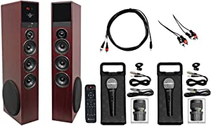 Rockville All-in-one Bluetooth Home Theater/Karaoke Machine System w/2) Mics