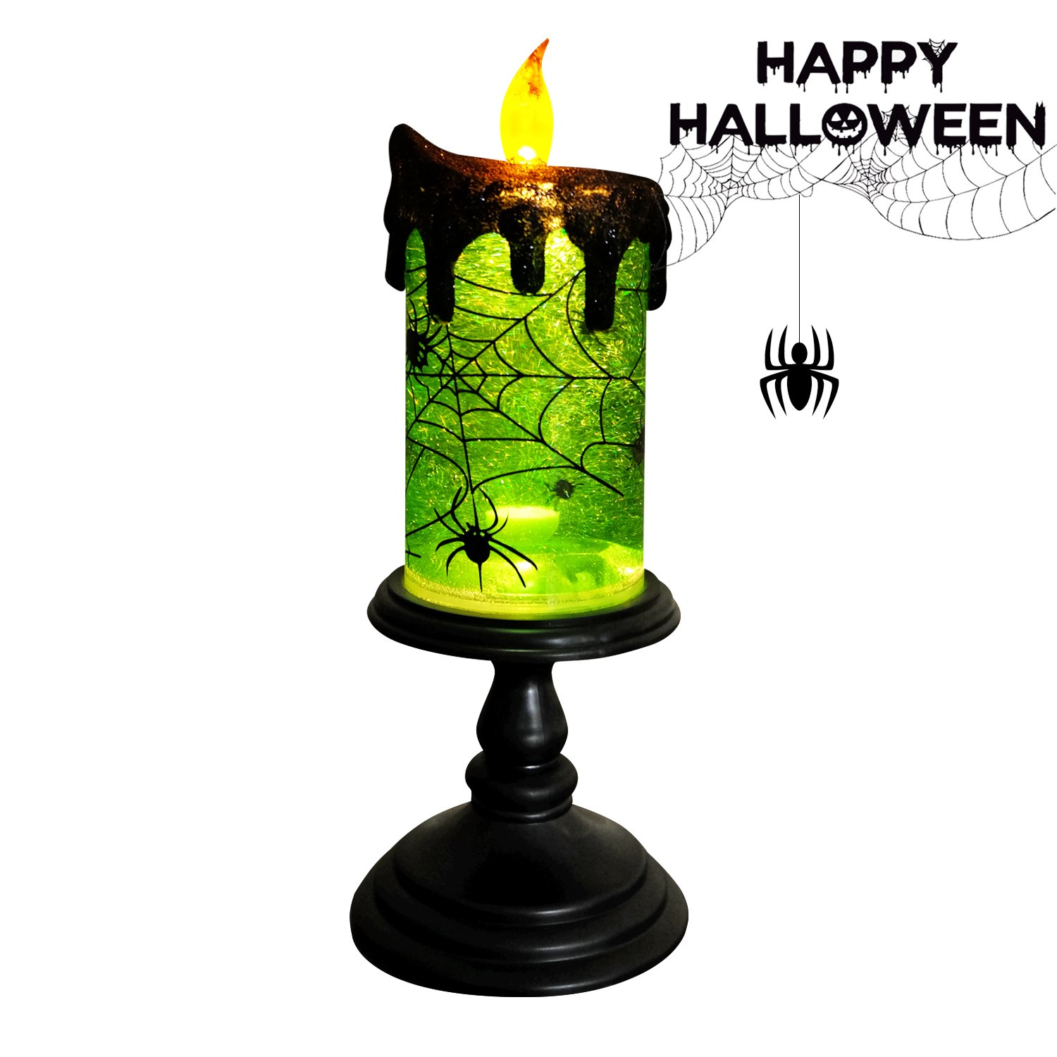 Amazoncom Eldnacele Halloween Christmas Led Lighting Tornado Spinning Flameless Candles