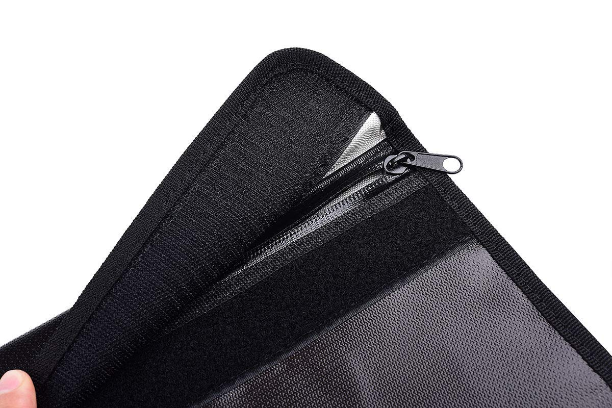 with Zipper /& Handle Fireproof Waterproof Water Resistant Document Safe Bag Security Storage for Accessories 15 x 11 15 x 11 Lvyinyin