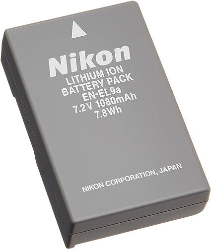 Cargador para Nikon D40 D40X D60 D3000 D5000 Cámara EN-EL9 EN-EL9a Batería