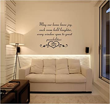 Amazoncom Quote It May Our Home Know Joy Personalized Vinyl Wall - Personalized vinyl wall decals