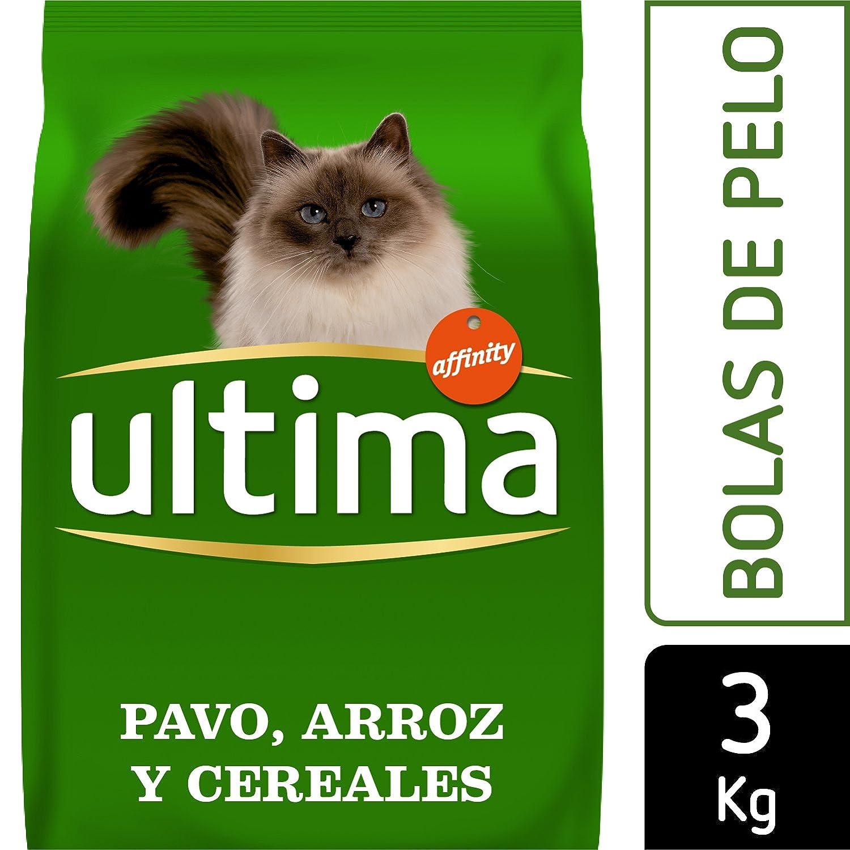Ultima Pienso para Gatos para prevenir Bolas de Pelo con Pavo: Amazon.es: Productos para mascotas