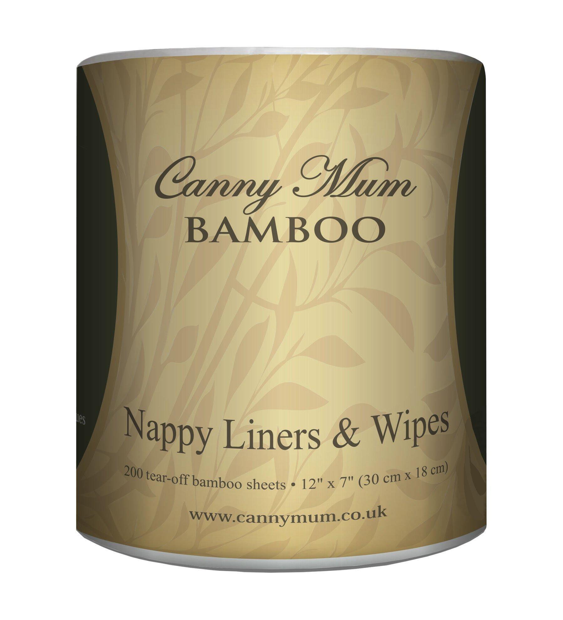 cannymum multiusos bambú 2 en 1 de pañal y toallitas (200 hojas/rollo)