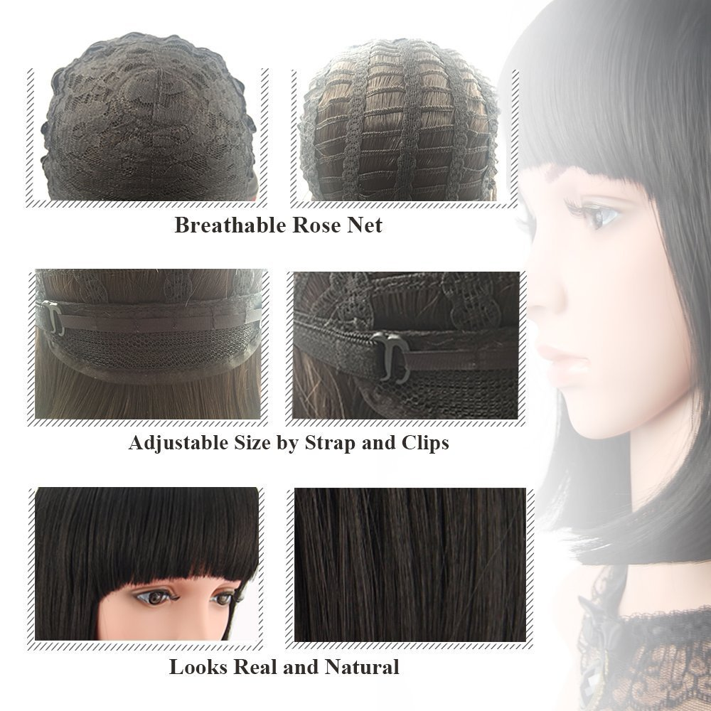 eNilecor Short Bob Hair Wigs 12\