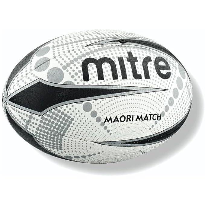 Mitre Maori Match Balón de Rugby, Multicolor: Amazon.es: Deportes ...