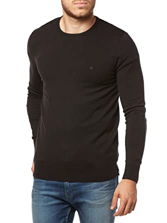 CALVIN KLEIN JEANS - Men s long sleeve pullover stag sweater long sleeve  j30j305908 s black 9f19e348fa