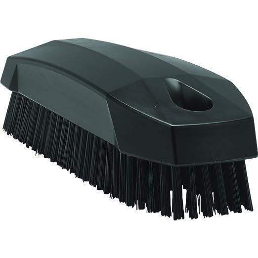Vikan 64409 Stiff Nail Scrubbing Brush Clean Bathroom Kitchen 6440 Black