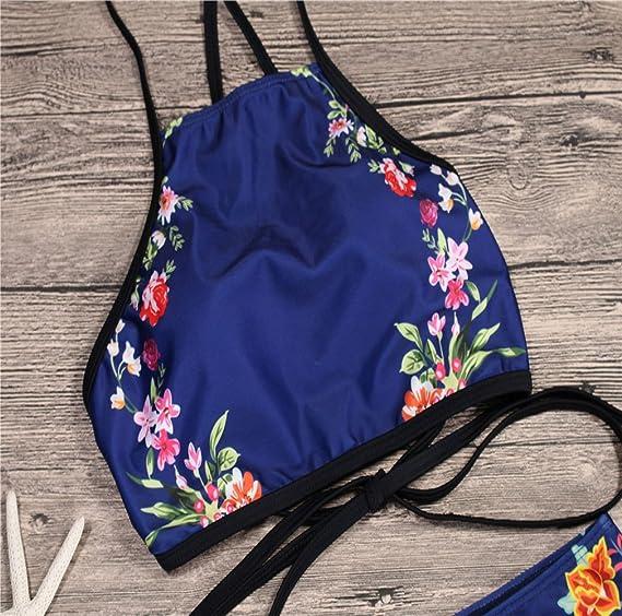 80463f61e60 Amazon.com  Nafanio Girl Bikini Womens Sexy High Waist 2 Sets Push up  Bathing Suit  Clothing