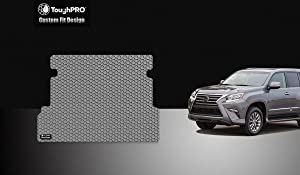 TOUGHPRO Cargo/Trunk Mat Accessories Compatible with Lexus GX460 - All Weather - Heavy Duty - (Made in USA) - Gray Rubber - 2010, 2011, 2012, 2013, 2014, 2015, 2016, 2017, 2018, 2019, 2020
