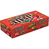 M&MS Peanut Butter Chocolate Candy Singles Size 1.63-Ounce Pouch 24-Count Box