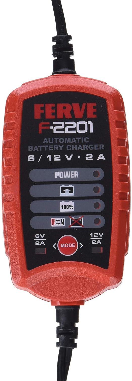 Ferve F-2201 Cargador de Baterías de Plomo Acido