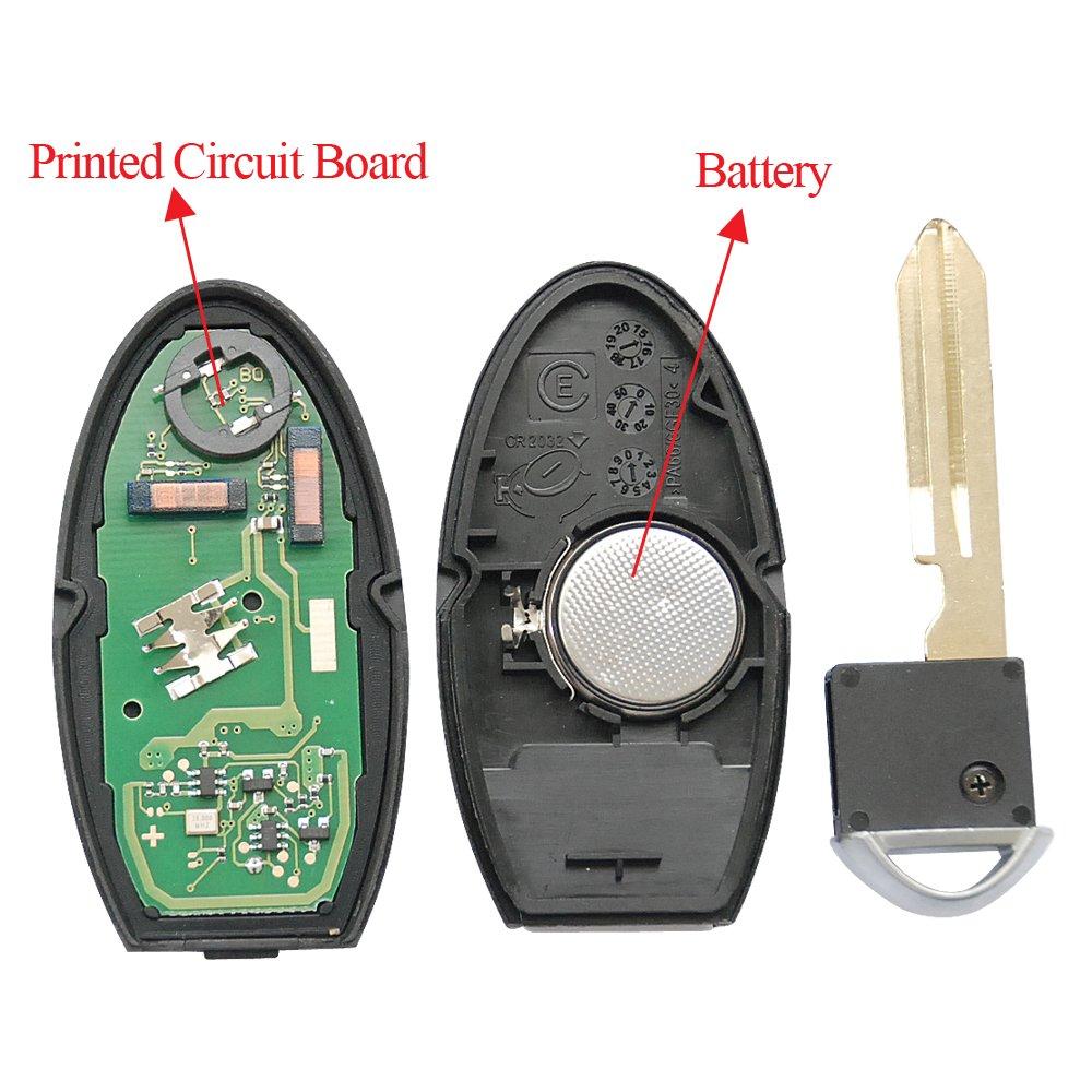 Bestremotes Keyless Entry Car Remote Uncut Flip Ignition 20072008 Infiniti G35 Smart Key Dealer Program Fob Replacement Fcc Kr55wk48903kr55wk49622 2 Pcs Electronics