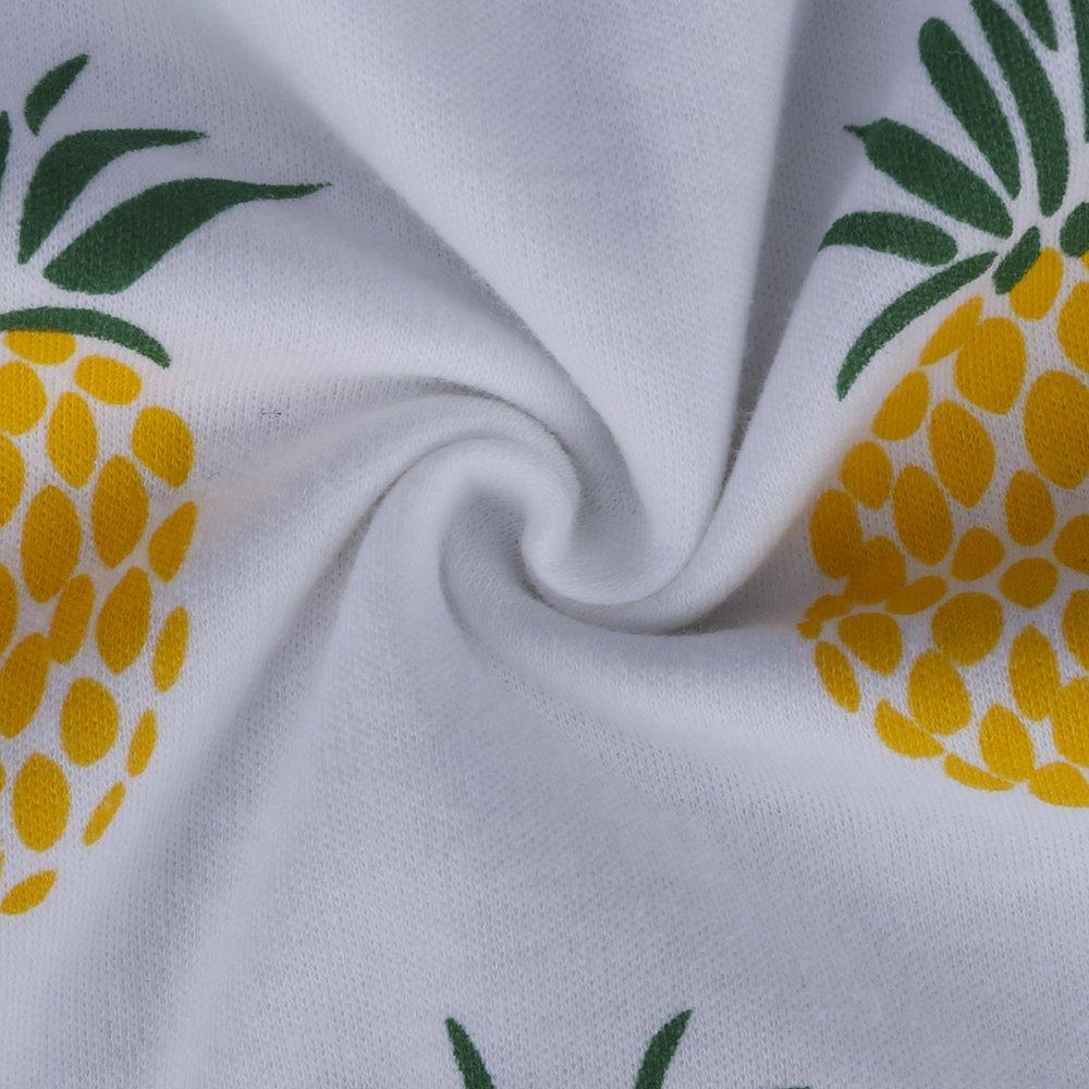 Mary ye Boys Girls Long Sleeve Cotton Pajama Set Kids Pjs Fruits Print T-Shirt Pants Outfits