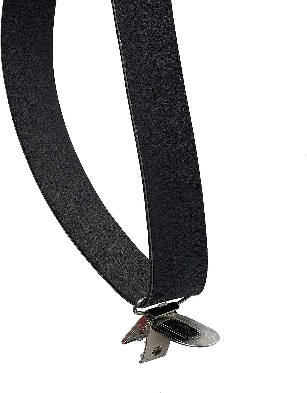 /Wedding Vintage Coffee Rustic Brown Dark Brown Black Wide Pu Leather Suspenders/for Men Braces