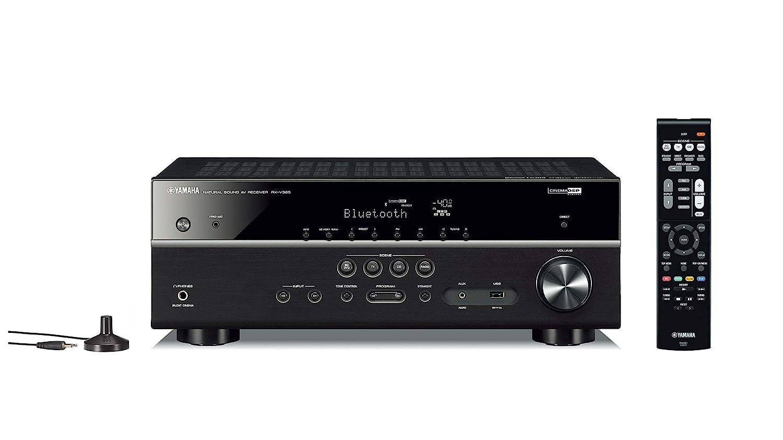 Yamaha RX-V385 5.1-Channel 4K Ultra HD AV Receiver with Bluetooth (Renewed)
