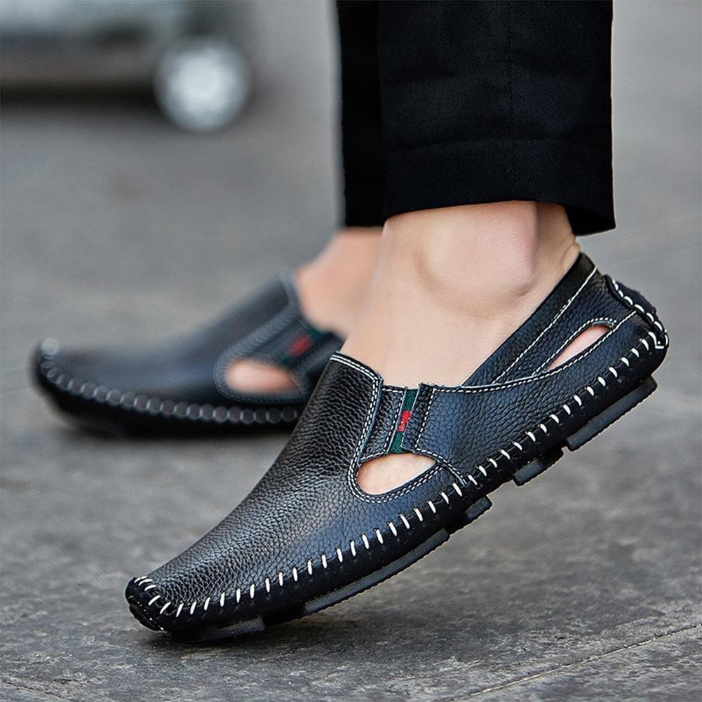 LXIE Herren Leder Sandalen Sommer Sommer Sommer Handgefertigte Sandstrand Schuhe Mode, 42  02f56b