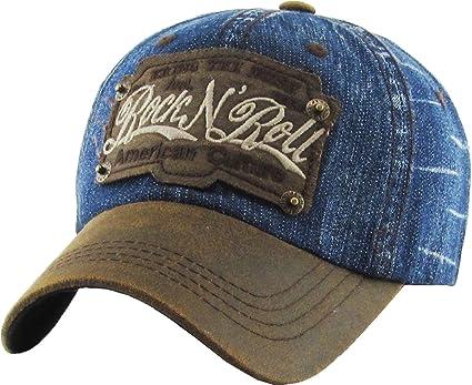 ddbbb94a Amazon.com: KBVT-557 MDM Rock N Roll Vintage Ballcap Distressed ...